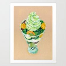 Matcha Parfait Art Print