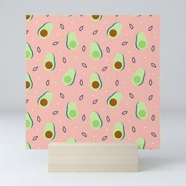 Yummy Avocado Pattern Mini Art Print