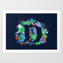 Letter D Art Print