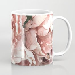 Autumn Fall Coral Peach Floral Peonies Roses Shabby Chic Flowers Coffee Mug
