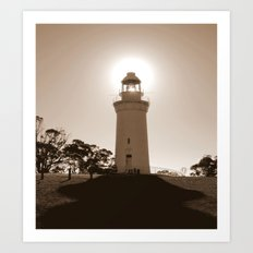 Midday over Lighthouse Art Print