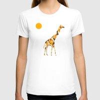 giraffe T-shirts featuring Giraffe  by fly fly away