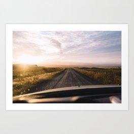 Chasing the Sunset Art Print
