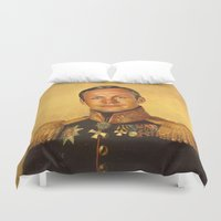 louis armstrong Duvet Covers featuring Neil Armstrong - replaceface by replaceface