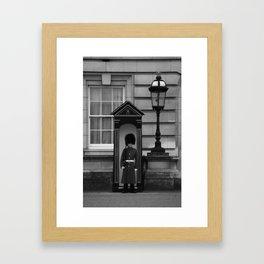 Beefeater Guard at Buckingham Palace Framed Art Print