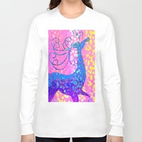 reindeer Long Sleeve T-shirts featuring ReinDeer  by Saundra Myles