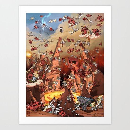 Heaven Melee Art Print