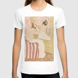 The Coiffure  by Mary Cassatt (1844-1926) T-shirt