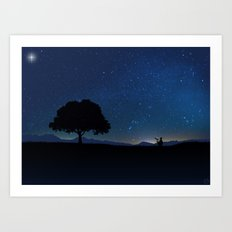 Star Watcher  Art Print