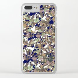 Facet Navy Clear iPhone Case