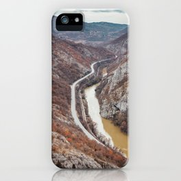 Beautiful picture of the canyon in Serbia. Dramatic sky and mountains iPhone Case