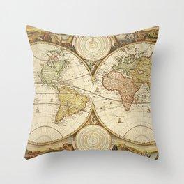 Mapamundi Throw Pillow