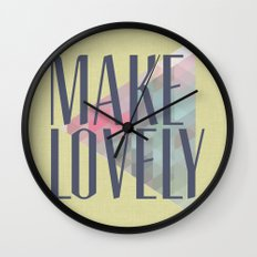 Make Lovely // Leaf Wall Clock