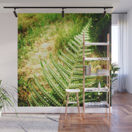 Green Fern Wall Mural