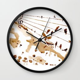 Music of th hills Wall Clock
