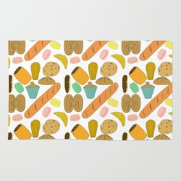 Patisseries de France French Pastries and Breads Rug
