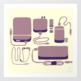 Digital Emergency Kit (Lavender) Art Print