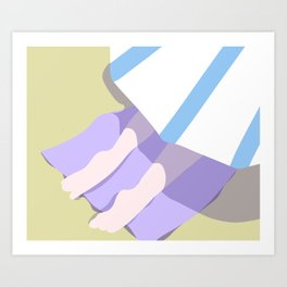 BEACH BLANKET Art Print