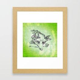 NV: Keer: green Framed Art Print