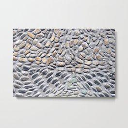 beautiful pattern of rocks stones pebbles peaceful Metal Print