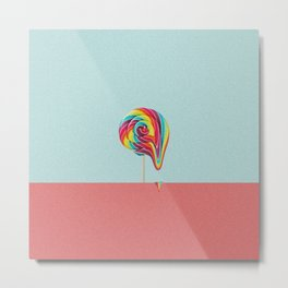 Lollipop fall Metal Print