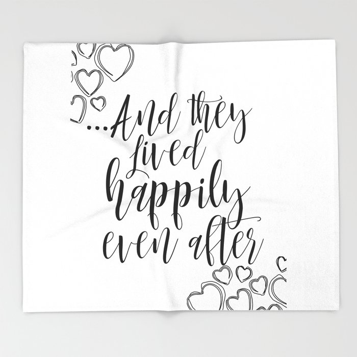 Printable Art Love Quote And They Lived Happily Ever After