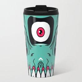 Triple Eyed Dumps Skull Travel Mug