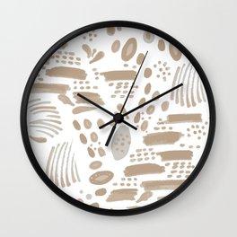 Brushstroke Scatter Wall Clock