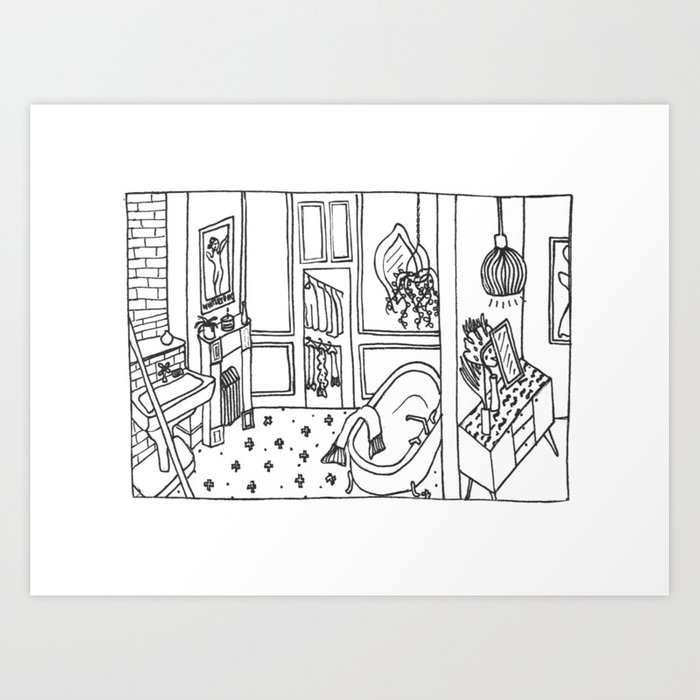 inside the life Art Print