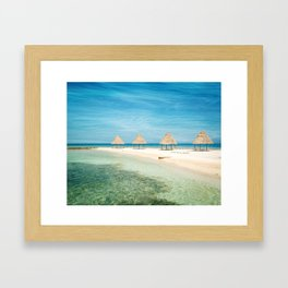 Waves and Clouds Framed Art Print
