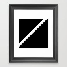 Natticat Double Stripe Framed Art Print