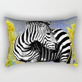 ZEBRA YELLOW ORCHIDS TROPICAL BLOOM Rectangular Pillow