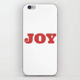 JOY Red & White Polka Dots iPhone Skin