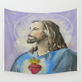 Profile of Sacred Heart of Jesus Wall Tapestry