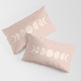 Minimal Moon Phases - Desert Rose Pillow Sham