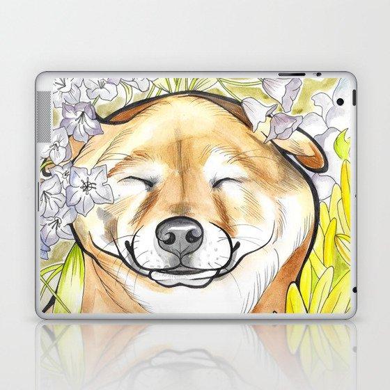 Jay Jay the happy Shiba Laptop & iPad Skin