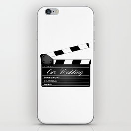 Our Wedding Clapperboard iPhone Skin