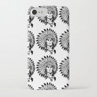 headdress iPhone & iPod Cases featuring Headdress by Gregg Deal