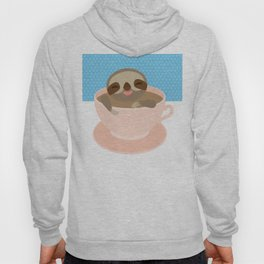 Sloth in a Pink cup coffee, tea, Three-toed sloth Hoody