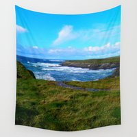 spanish Wall Tapestries featuring Photo, Spanish Point, Ireland by American Artist Bobby B