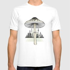 Growth LARGE Mens Fitted Tee White