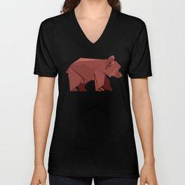 Origami Bear Unisex V-Neck