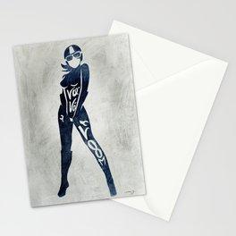 """Va-Va-Voom """"Elsa"""" Motorcycle Pin Up Girl Stationery Cards"""