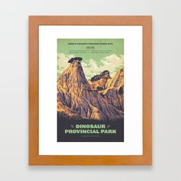 Dinosaur Provincial Park Framed Art Print