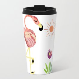 Flamingos Travel Mug