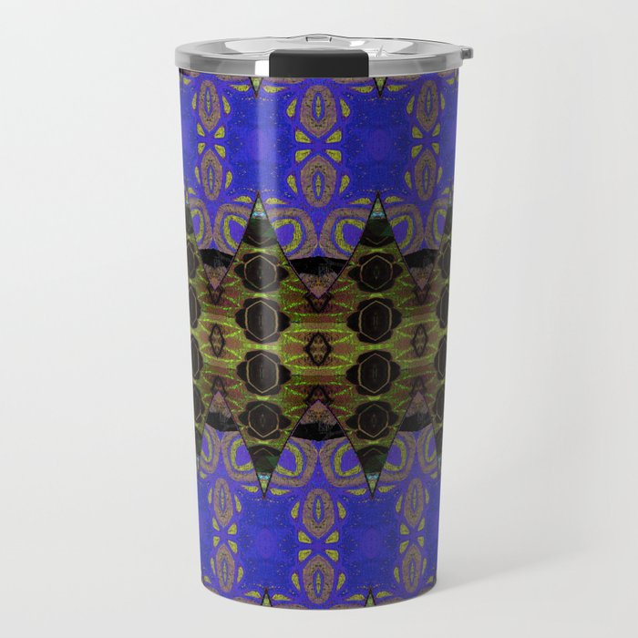 Ultra Lapis Blue Resonant Harmonic Boujee Boho Rococo Geometric Travel Mug