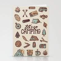 camping Stationery Cards featuring Lets Go Camping by WEAREYAWN