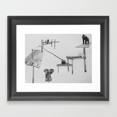 Let Them Sit Where We Place The Seat II Framed Art Print