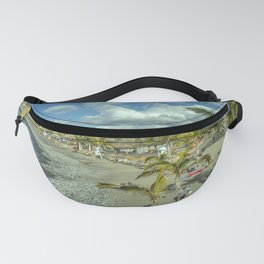 Volcanic Beach Seascape Fanny Pack