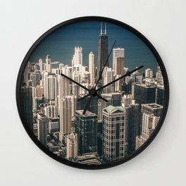 Chicago City Skyline Wall Clock